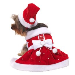 Santa Paws Red Velvet Dog Holiday Dress Size XL