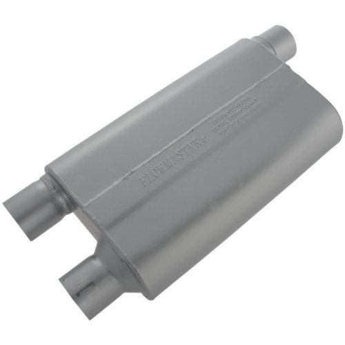 Flowmaster 42583 80 Series Muffler - 2.50 Offset IN / 2.50 Dual OUT - Aggressive Sound by Flowmaster ()