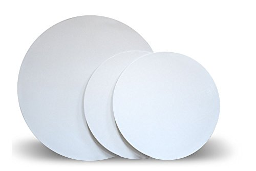 "12"" White Round Cakeboard, 12 ct. - 2 mm Thick"