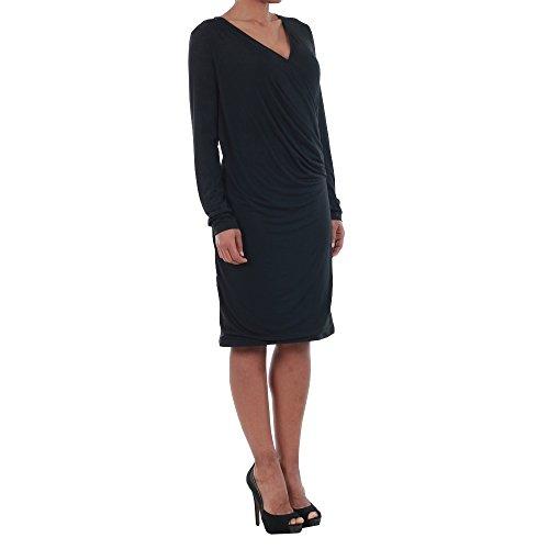 b76dd0e7723791 Vero Moda Kleid Damen Langarm Schwarz 10191364 VMNAOMI L S WRAP SHORT DRESS  D2- ...