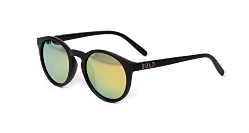 SOLO Eyewear - Recycled Plastic - Round Matte Black - Bolivia - Sunglasses Recycled