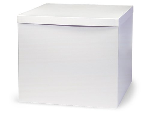 Pack of 50, White Gloss Hi-Wall 14 x 14 x 12'' 100% Recycled Giftware Box Base Use Food Safe Barrier Like Food Grade Tissue or Cello for Food Packaging(Lids Sold Separately) by Generic