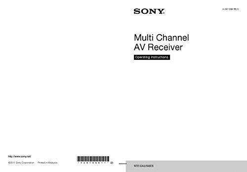 - Sony STR-DA3700ES Receiver Owners Manual