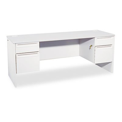 38000 Series Kneespace Credenza, 72w x 24d x 29-1/2h, Light Gray, Sold as 1 Each by HON