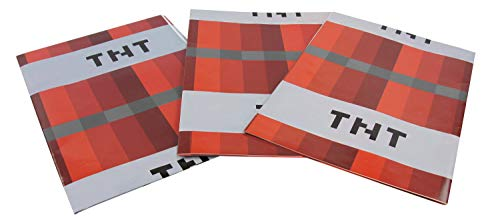 TNT Pixel Style Wrapping Paper, Birthday Party Supplies for Pixel Gamer Themed Parties and Stocking Stuffers - Party Supply for Wrapping Boxes and Accessories