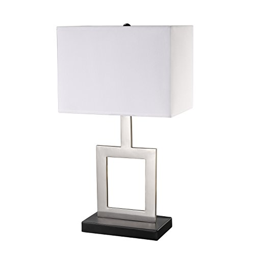 Globe Electric 11388 Table Lamp, 21″, Brushed Nickel