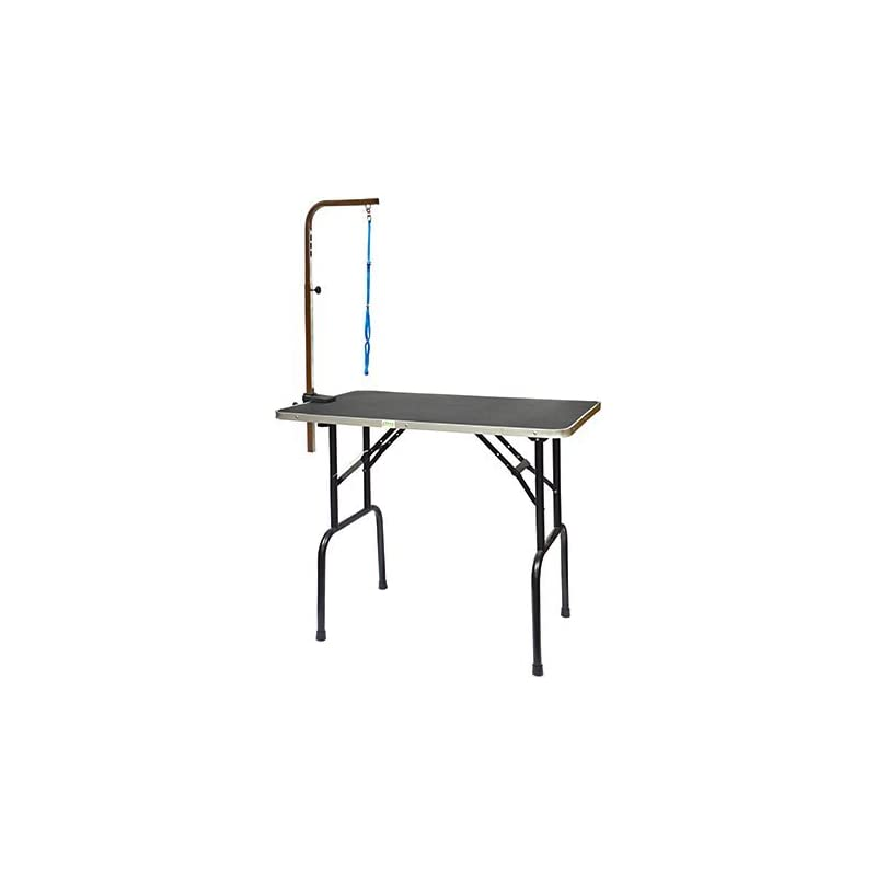 dog supplies online go pet club pet dog grooming table with arm, 30-inch
