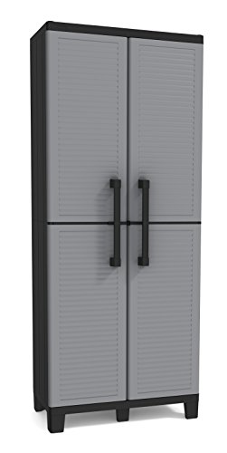 Keter Space Winner Grey, Garage Storage Cabinet with Doors and Shelves