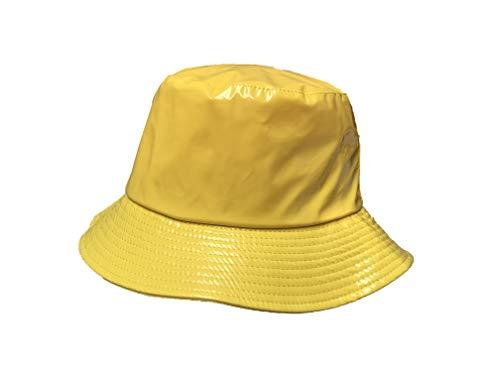 TOUTACOO, Waterproof Wax Style Bucket Rain Hat 02-Yellow