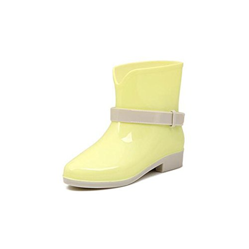 Anklt Candy Girl's Yellow Pure ANDAY Jelly Color Wellies Boots Rain nEaXdwqvx