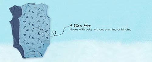 Hanes Ultimate Baby Flexy 5 Pack Sleeveless Bodysuits (Tanks)