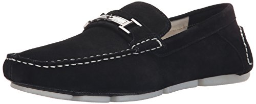 Black Calf Loafer Shoes - Calvin Klein Men's Magnus Calf Suede Slip-on Loafer,Black,10.5 M US