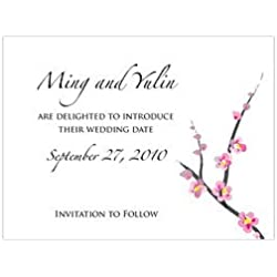 Cherry Blossom Save the Date Card