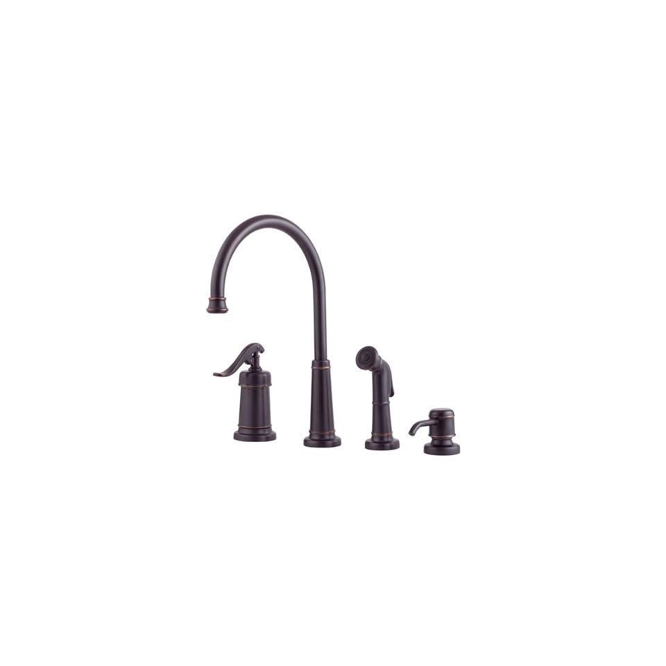 Price Pfister Ashfield 1 Handle Kitchen Faucet w/Spray & Dispenser