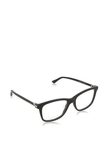 Gucci GG 0018O 001 Black Plastic Square Eyeglasses - Frames Glasses Gucci Womens