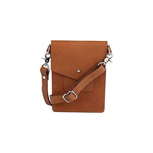 SLATE COLLECTION Ballard Mini Crossbody Bag, Full-grain Leather (Cognac)