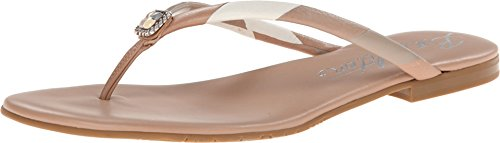 Brighton Angel Buff Leather Flip Flop Sandals (7M)