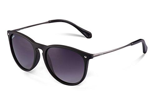 Carfia Vintage Polarisierte Damen Sonnenbrille Wayfarer Sonnenbrille Fahrer Brille 100% UV400 Schutz für Autofahren Reisen Golf Party und Freizeit - Super Leicht aus Metallrahmen