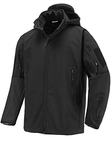 Abollria Military Tactical Hooded Jacket Black