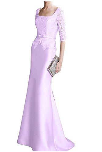 Braut mia Weiss Promkleider mit Abendkleider La Herrlich Etuikleider Brautmutterkleider Langarm Spitze Flieder Ballkleider RTwCFwxq