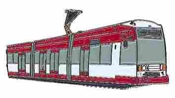 Alfiler de Corbata Tranvía Rhein Tren Blanco/Rojo * DE Roller Shop ...