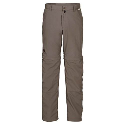 Jack Wolfskin Herren Hose Canyon Zip Off Pants Men, Siltstone, 50, 1500901-5116050