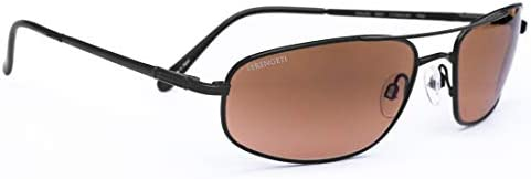 Serengeti Velocity Sunglasses Satin Black with Silicon Gel Nose Pads