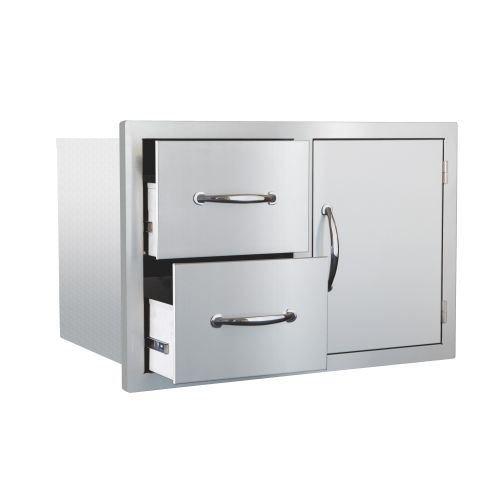 Summerset Grills Masonry Door/2-Drawer Combo -  SSDC-M