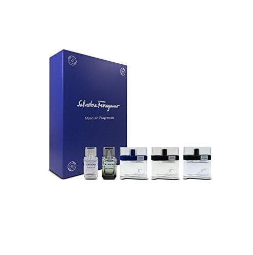 Miniature Mens Fragrance - Salvatore Ferragamo 5 Piece Mini Eau De Toilette Set for Men