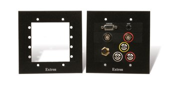 Extron Two-Gang Architectural Wall Mounting Plate AAP 102 Black