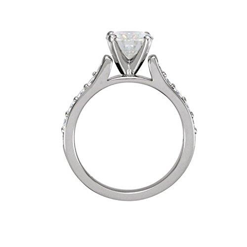 Gowe 1,5carat CT NEUF Def Couleur fiançailles et mariage Lab Cultivées Charles en diamant solide 14K 585Or blanc