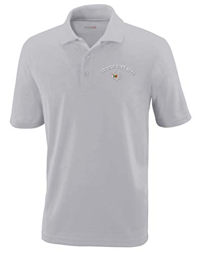 Custom Polo Performance Shirt Bass Drum Embroidery Design Polyester Golf Shirt for Men Platinum 2X Large Personalized Text Here
