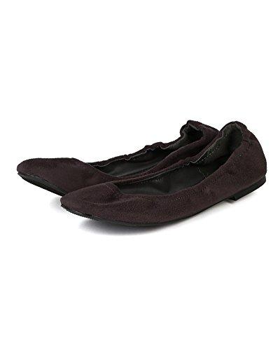 Toe Ballet Women Grey Breckelles Flat Suede Round BD51 Slouchy wFvnfqpz