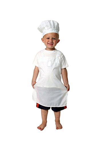 Kids White Chef Apron & Hat Set ML