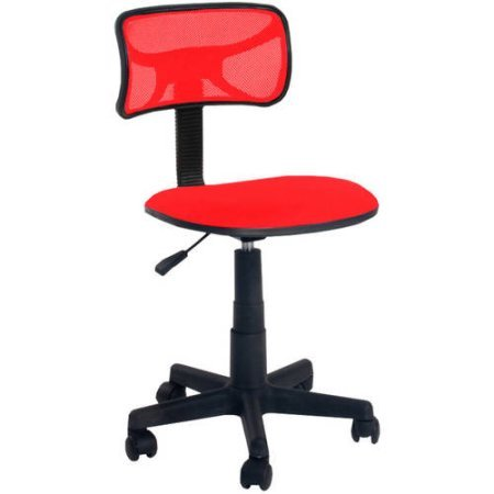 Urban Shop Swivel Mesh Chair | Adjustable Lever for Varying Heights (Red Engine)