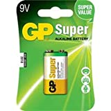 Replacement For 1604A-C1 GP 9V SUPER ALKALINE BATTERY 1PK CARDED Battery 10 PACK
