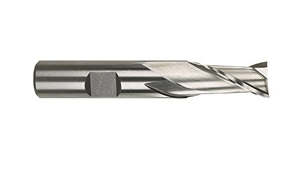 High-Speed Steel Morse Cutting Tools 43665 Single End Mills Center Cutting 3//4 x 5//8 Size 2 Flutes Bright Finish