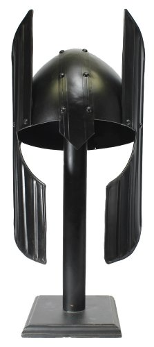 (RedSkyTrader Mens Corinthian Warrior Armor Helmet One Size Fits Most Black)