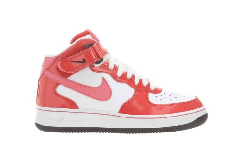 Nike Air Force 1 MID (GS) Schuhe white-dynamic pink-hyper red-dark obsidian - 36,5