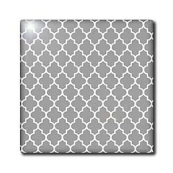 InspirationzStore patterns - Dark gray quatrefoil pattern - grey Moroccan tiles - modern stylish geometric clover lattice - Tiles