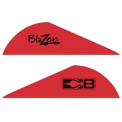 Blazer Arrow Vanes (Bohning) Red w/Logo Pkg/100
