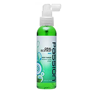 Passion Lubes Mint Flavored Throat Numbing Spray, 4 oz.