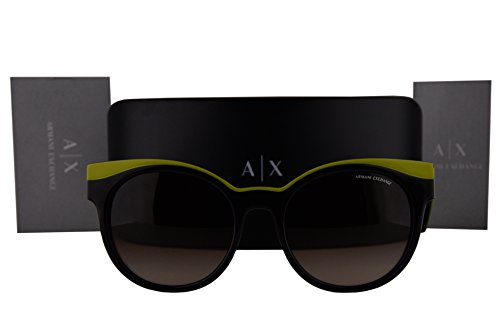 Armani Exchange AX4064S Sunglasses Violet Havana Lime w/Brown Gradient Lens 822613 AX - Exchange Aviator Sunglasses Rectangular Armani
