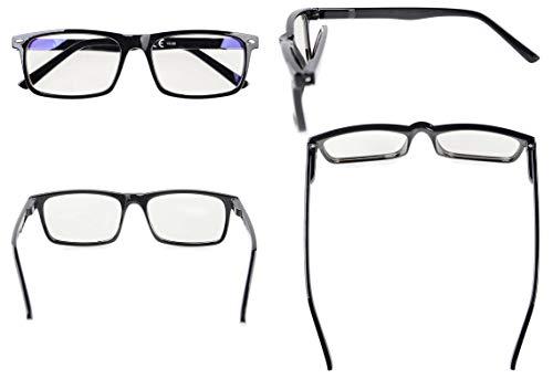 771e2f2622ee2 Eyekepper Readers UV Protection, Anti Glare Eyeglasses,Anti Blue Rays,  Spring Hinges Computer Eyeglasses Black
