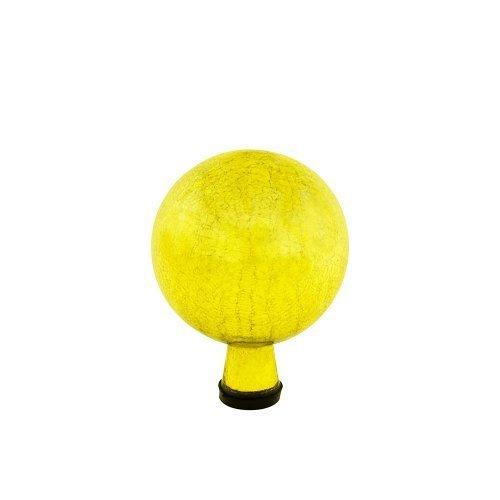 Achla Designs Gazing Globe, 6-Inch, Lemon Drop Crackle by Achla