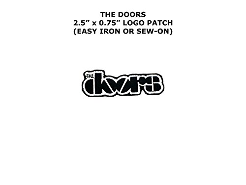 [The Doors Band Rock Music Embroidered Iron/Sew-on Comics Cartoon Theme Logo Patch/Applique] (Easy Male Villain Costumes)