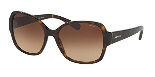 Coach Womens Sunglasses (HC8166) Tortoise/Brown Acetate - Non-Polarized - 58mm