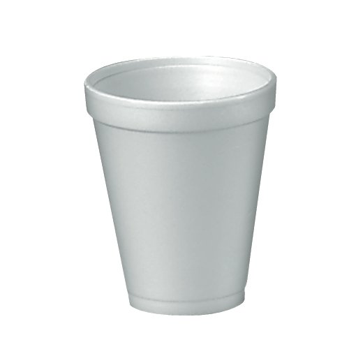 "Dart 12J12 12 oz Capacity, 3.5"" Top and 2.1"" Bottom Diameter, 4.4"" Height, White Insulated Foam Cup (40 Packs of 25)"