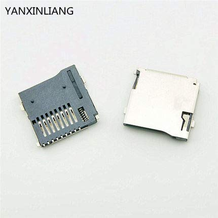 Davitu 50PCS Push-Push Type TransFlash TF Micro SD Card Socket Adapter Automatic PCB Connector