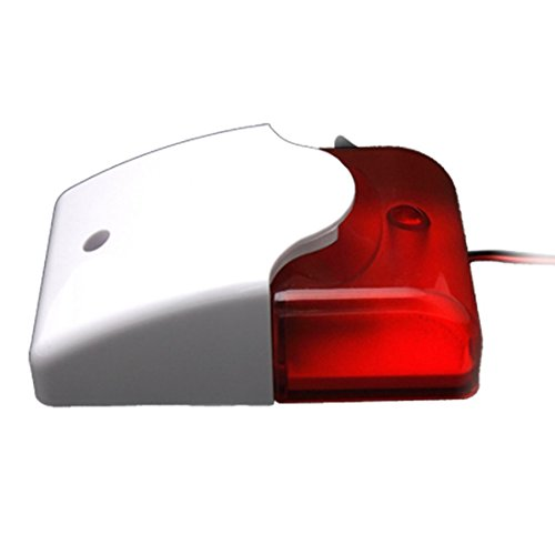 Foto4easy Mini 12V Strobe Light Siren Security Wired Flash 108dB Sound Alarm - Light Alarm Security Strobe